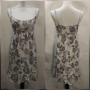 LOFT Floral Sleeveless Sun Dress Size S